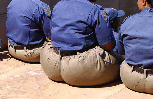 SAPS - To protect and serve. And eat pap.